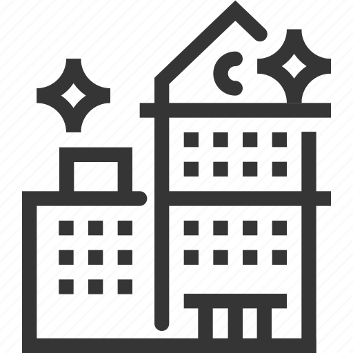 apartment, buildings, estate, office cleaning, property, space, working icon