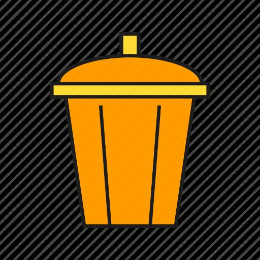 bin, bucket, contain, trash icon