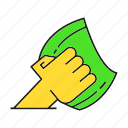 cleaning tool, hand, hold, household, housework, hygiene icon