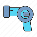 dryer, electronic, hair, hairdryer icon