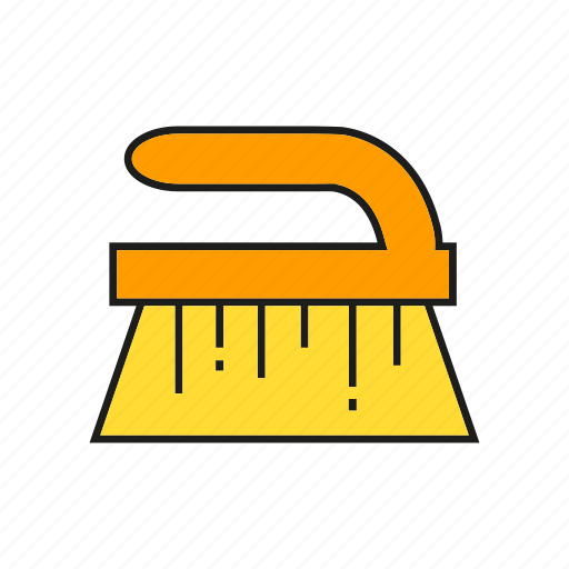 brush, cleaning tool, household, hygiene icon