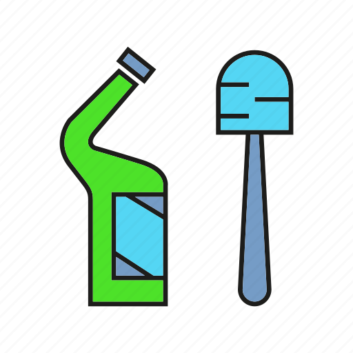 cleaning tool, detergent, household, housework, hygiene icon
