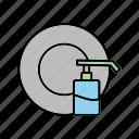 cleaning, cleaning dish, cleaning icon, dish icon