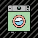 laundry, machine, washing, washing machine icon