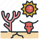 arid, drought, forecast, parched, sprout icon