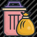 environment, garbage, pollution, trash, warming icon