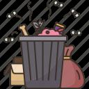 wastrel, garbage, waste, trash, pollution