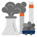 fuel, climate change, fossil fuel, fossil fuel power station icon
