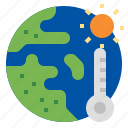 earth, temperature, climate change, global average temperature, global warming icon