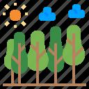 ecology, forest, habitat, timber, climate change icon