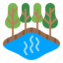 gas, swamp, climate change, methane gas, stagnant water icon