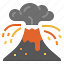 disaster, lava, volcano, climate change, volcano eruptions icon