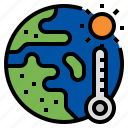 climate change, earth, global average temperature, global warming, temperature icon