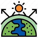 ghg, ozone, global warming, greenhouse gas, climate change, atmosphere icon
