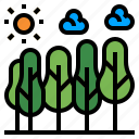 climate change, ecology, environment, forest, habitat, timber, trees icon