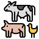 cattle, farm, farming, livestock, beef, climate change, pork icon