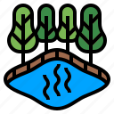 climate change, ecology, gas, methane gas, stagnant water, swamp icon
