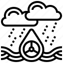water, acid, co2, rain, pollution icon