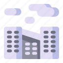 climate change, office, pollution, disaster, city, global warming icon