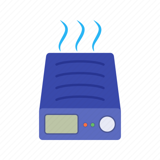 Hot, humidification, pot, room, stand, steam, water icon - Download on Iconfinder