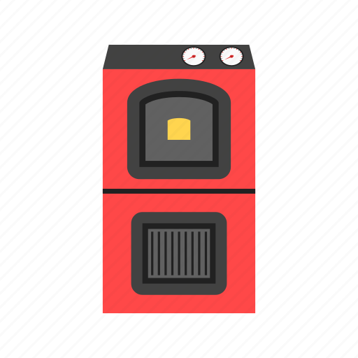 boiler, fire, fuel, furnace, hot, natural, solid icon