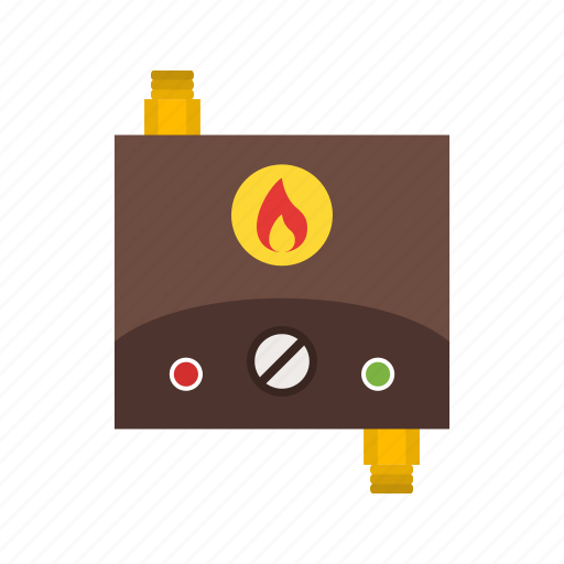 Heater, energy, tankless, domestic, water, hot, automatic icon