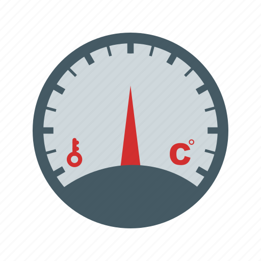 Temperature, level, meter, pressure, gauge, stick, pointer icon - Download