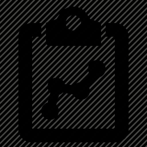 analytics, chart, clipboard, metrics, performance, report, statistics icon