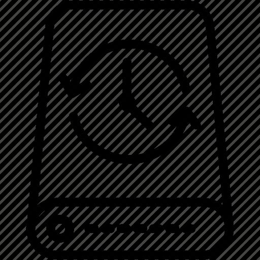 arrow, backup, data, drive, refresh, reload, storage icon