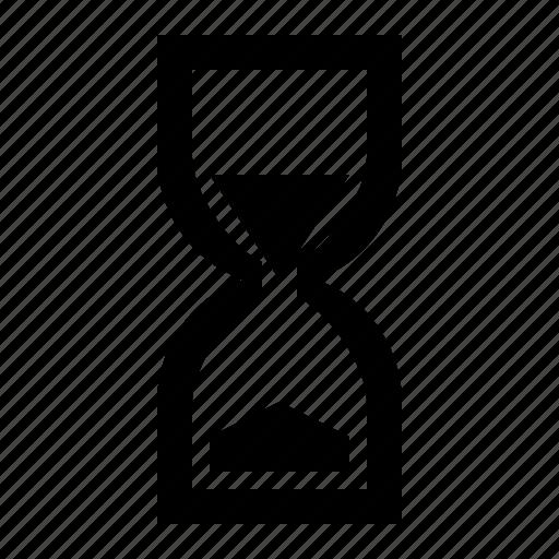 clock, half empty, half full, halfway, sand, time icon