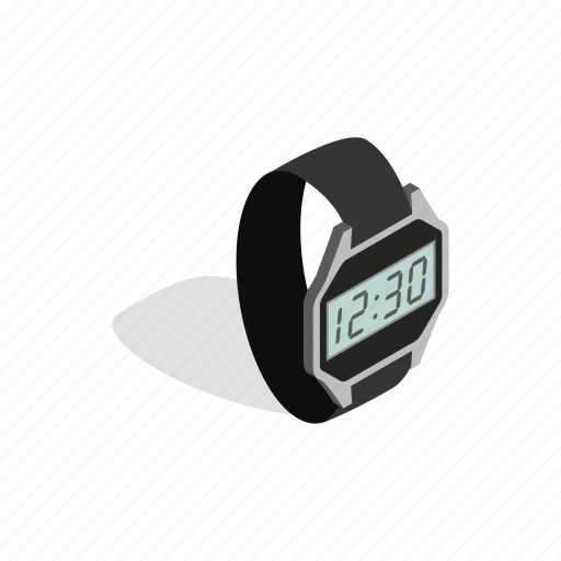display, gadget, interface, isometric, smart, watch, wrist icon