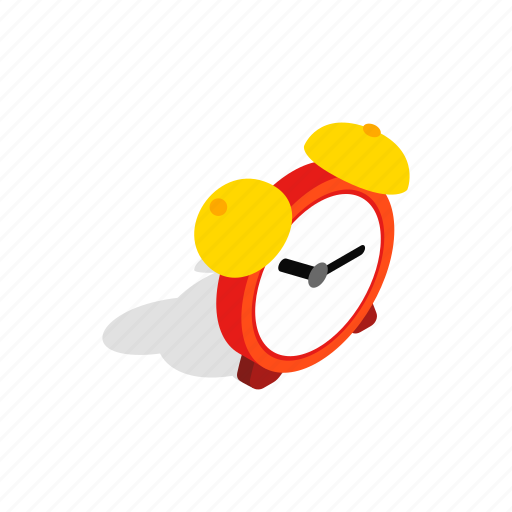 alarm, clock, hour, isometric, time, timer, watch icon