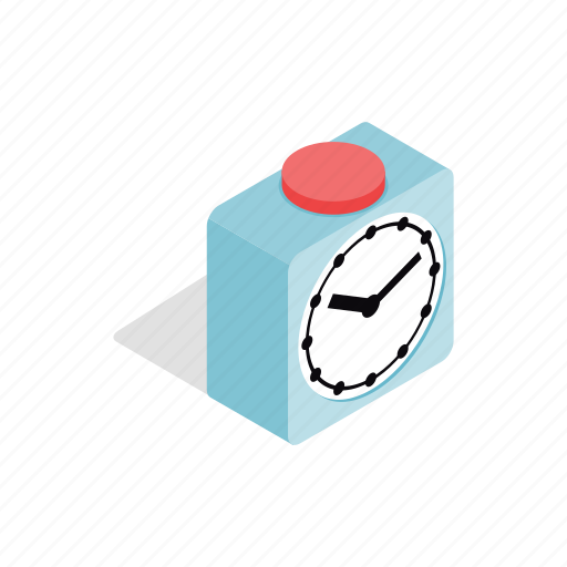 app, clock, hour, isometric, mobile, time, watch icon