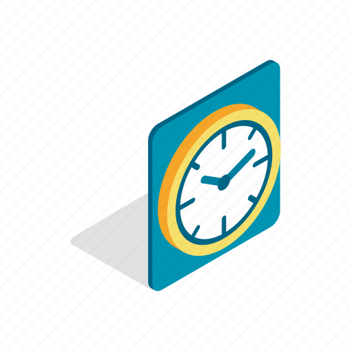 clock, hour, isometric, minute, time, wall, watch icon