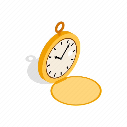 drawing, isometric, old, pocket, retro, time, watch icon