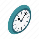 circle, clock, hour, isometric, minute, round, time icon