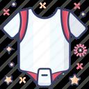 baby cloth, baby outfit, kids romper, onesie, romper, summer wear icon