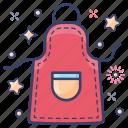 apron, cooking apron, kitchen apron, kitchen clothing, pinafore apron