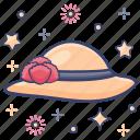 beach hat, hat, headgear, headpiece, headwear