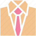 clothes, fashion, formal clothes, shirt, shirt and tie, shirt with tie, tie icon