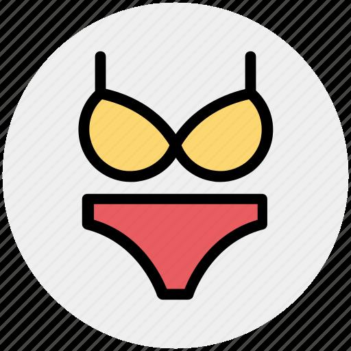 Bikini, brazzer, cloth, female, nightie, underwear, woman icon - Download on Iconfinder