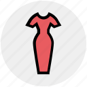clothes, dress, female, formal dress, ladies dress, style, stylish dress icon