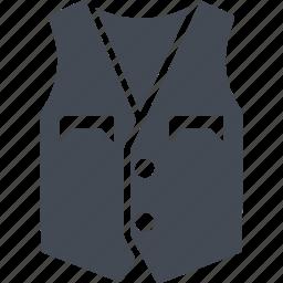 clothes, fashion, pockets, vest, wear icon