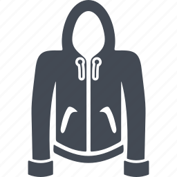 clothes, hood, jacket, sleeve, wear icon