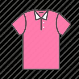 clothes, pink, polo, shirt, summer, t-shirt, tshirt icon icon