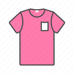 accesories, clothes, pink, shirt, summer, t-shirt, tshirt icon icon