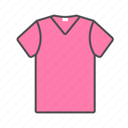 accesories, clothes, men, pink, shirt, summer, t-shirt icon