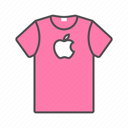 accesories, apple, clothes, men, shirt, summer, t-shirt icon