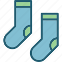 accessories, footwear, sock, socks icon