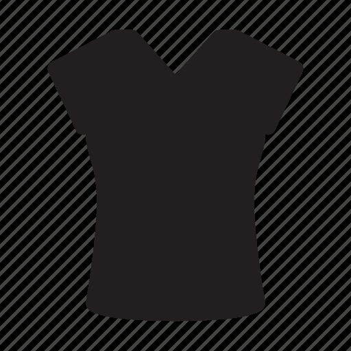 clothes, short, sleeves, tshirt, vneck, women icon